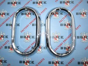 1950 1951 1952 Buick Chrome Tail Lamp Bezels Oem 5940753 Special Super Roady