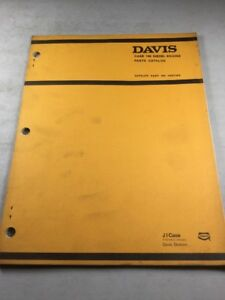 Davis case 188 Diesel Engine Parts Catalog