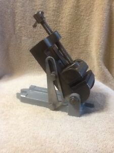 Vintage Craftsman 2 1 2 Jaw Angle Tilting Drill Press Machinist Vice