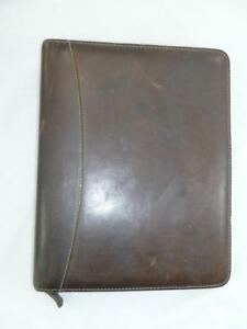 Vintage Franklin Quest covey Leather 11 Planner organizer agenda day timer