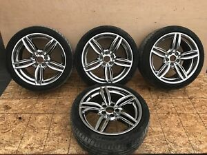 Bmw F01 F02 B7 740li 750li Chrome Rims Wheel Wheels Tire Set 19 M Sport Oem