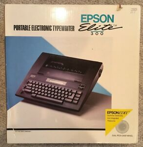 Pre owned Epson Elite 300 Electronic Typewriter Tested Working With New Ribbon