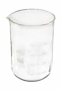 United Scientific Bg1000 5000 Borosilicate Glass Low Form Beaker 5000ml Capa