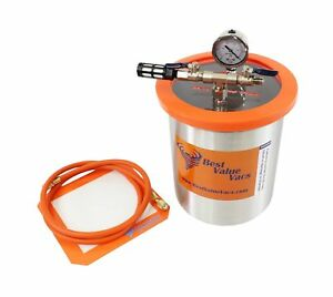1 5 Gallon Tall Stainless Steel Vacuum Chamber To Degass Urethanes Silicones