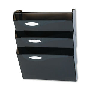 Rubbermaid Classic Hot File Wall File Systems Letter Three Pockets Smoke L16603