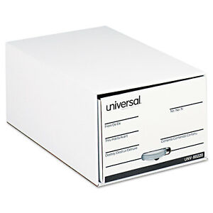 Universal Storage Box Drawer Files Legal Fiberboard 15 X 24 X 10 White 6