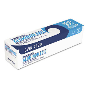 Boardwalk Heavy duty Aluminum Foil Roll 12 X 500ft 20 Micron Thickness Silver