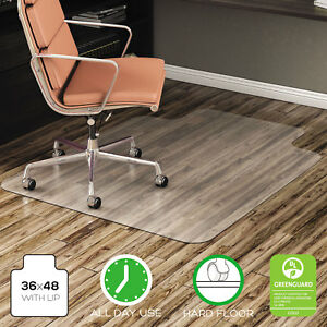 Deflecto Economat Anytime Use Chair Mat For Hard Floor 36 X 48 W lip Clear
