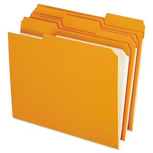 Pendaflex Reinforced Top Tab File Folders 1 3 Cut Letter Orange 100 box