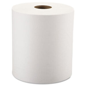 Windsoft Nonperforated Roll Towels 1 ply White 8 X 800ft 6 Rolls carton