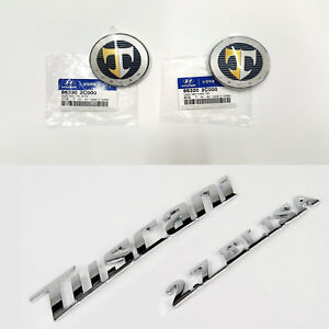 86320 2c000 Genuine T Logo Hood Tuscani Elisa 2 7 Emblem Set For 03 06 Hyundai