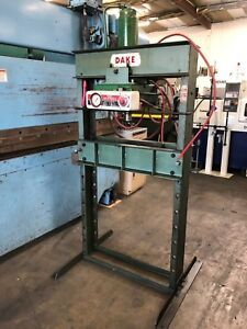 Dake Model 6 250 Hydraulic H frame Press 50 Ton Air Operated