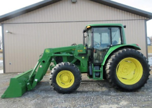 John Deere 6420 Tractor With Loader Enclosed 4x4 Heat Ac