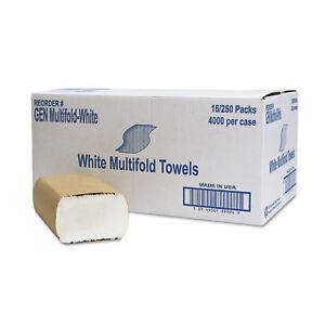 General Supply Multifold Towel 1 ply White 250 pack 16 Packs carton Multifoldwh