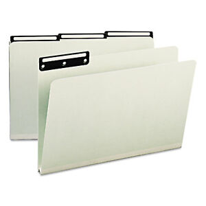 Smead One Inch Expansion Metal Tab Folder 1 3 Top Tab Legal Gray Green 25 box