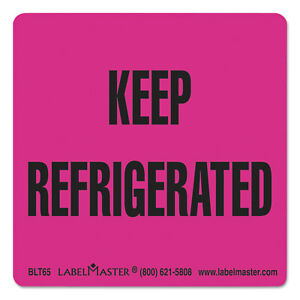 Labelmaster Warehouse Self adhesive Label 3 X 3 Keep Refrigerated 500 roll Blt65