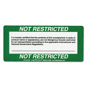 Labelmaster Shipping And Handling Self adhesive Label 5 X 2 1 4 Not Restricted