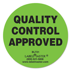 Labelmaster Warehouse Self adhesive Label 2 Dia Quality Control Approved 500