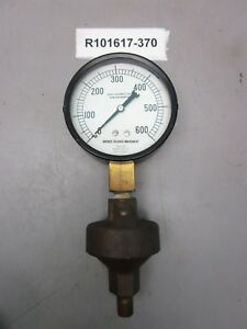 Marsh Instrument Steam Diaphragm Gauge 0 600 Brass Pressure Relief Valve