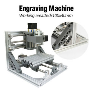 New Mini Cnc 1610 Cnc Engraving Machine Pcb Milling Wood Router For Diy Beginner