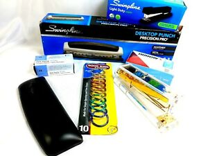 Office Desk Supply Mixed Lot Staples Paper Clips Hole Puncher Ring Staples