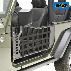 Eag 2 Trail Tubular Doors And 2 Trail Mirrors For 07 18 Jeep Jk Wrangler 2 Door