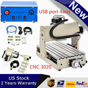 Usb Port 4axis Cnc Router Engraver Kit 300w 3d Engraving Milling Cutter Machine