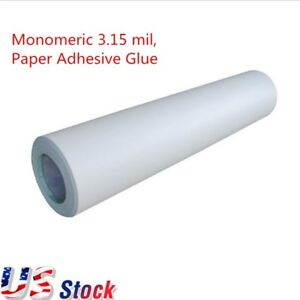 Us 54 X 50 Yard Roll Satin Cold Laminating Film Paper Adhesive Glue
