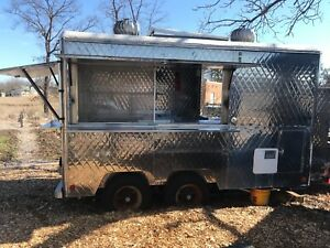 Food Truck For Sale Vintage 12 Stainless Steel Quilted Concession Trailer