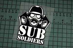 Sub Soldiers Sticker Decal Vinyl Jdm Euro Drift Lowered Illest Fatlace