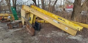 Gaffey 1 Ton Free Standing Jib Crane 167 Travel 210 Long Arm 10 Tall