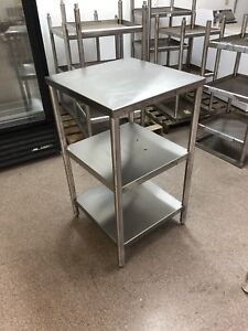 24 x24 x42 Stainless Steel Table