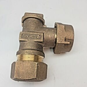 Mcdonald 1 Brass Angle Meter Valve Plug Style Lockwing