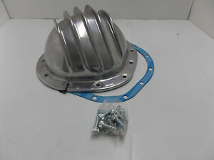 Polished Aluminum Finned Differential Cover Chevy Gm 12bolt 12 Bolt Rear Axle