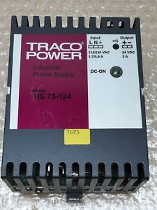 Traco Power Tis 75 124 Switch Mode Din Rail Panel Mount Power Supply