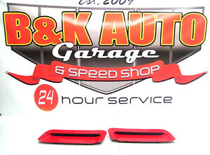 93 97 Camaro Factory Hood Louvers Vents Inserts Lh Rh Oem Stock Gm Scoops Red