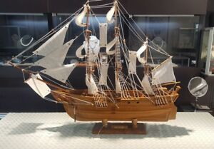 Model Ship 36 X27 Vintage Hms Bounty U K 1787 Sailboat