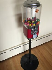 Commercial Gumball candy Vending Machine On Stand