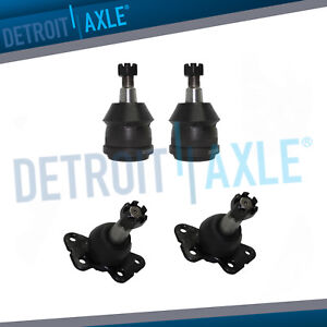 New Front Right And Left Lower And Upper Ball Joints For Gm Vehicles Trucks 2wd