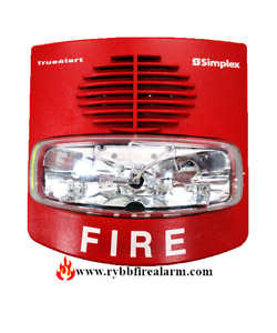 Simplex 49av wrf Wall Red Horn Strobe P n 07431057 Free Shipping The Same Day