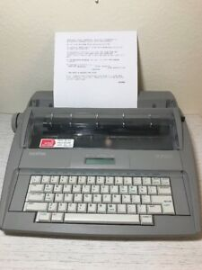 Brother Electronic Typewriter Sx 4000 Dictionary Correction Lcd Tested 100
