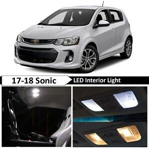 White Interior Map License Plate Led Light Package Kit Fit 2017 2018 Chevy Sonic