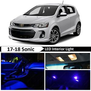 Blue Interior Map License Plate Led Light Package Kit Fit 2017 2018 Chevy Sonic