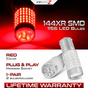 Supreme 3014 Chip 2x 1156 P21w 1141 Red Led Rv Tail Light Rear Brake Stop Bulb
