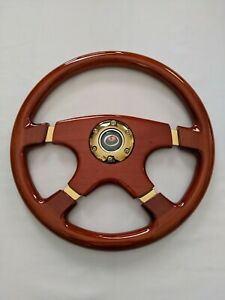 New Raptor 15 Designo 4 spoke Gold Trim Wood Grain Steering Wheel