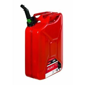5 Gallon Gasoline Tank Durable Galvanized Metal Briggs Stratton Jerry Gas Can