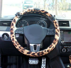 1pc Leopard Lace Universal Auto Car Steering Wheel Cover Ci033
