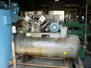 1993 10 Hp Industrial Air Machine Recriprocating Air Compressor 230 460v 3ph