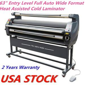 Us Stock 63 Full Auto Wide Format Heat Assisted Cold Laminator Entry Level
