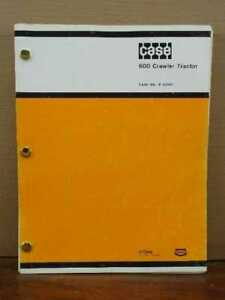 Oem Case 600 Crawler Tractor Dozer Service Repair Shop Manual 9 72001